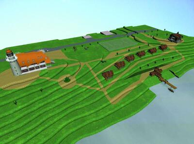 Трехмерная модель базы отдыха на Алтае, выполнен¬ная в Autodesk Revit Architecture
