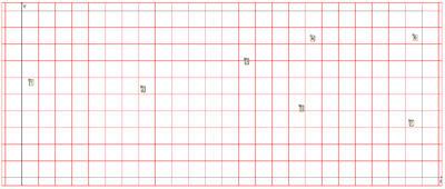 Рис. 3. Расположение координат скважин (габариты площадки 120х50 м)