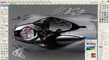 Один из ранних эскизов проекта суперкара Феррари, созданный студентами Университета Хонъик с помощью ПО Autodesk Alias