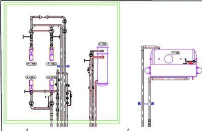 Рис. 4. Вид, сгенерированный средствами AutoCAD Plant 3D 2012