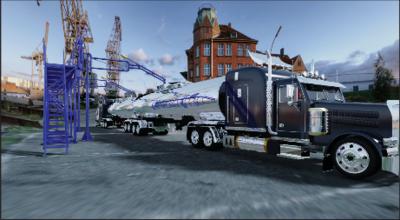 Площадка обслуживания и устройство налива в автомобильные цистерны: визуализация в Autodesk Showcase