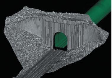 Сгенерированные геометрические представления туннелей использовались для расчета пространства, необходимого для воздушных электролиний, определения мест расположения ниш, кабелей, водосборников и многого другого