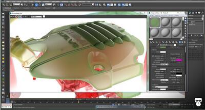 Рис. 6. Применение инструмента V-Ray Clipping Tool