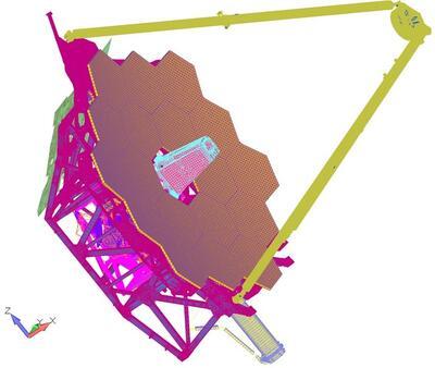 Полная модель телескопа в Femap