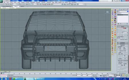 Рис. 13. Вид спереди на модель автомобиля с тюнингом, импортированную в Autodesk 3ds Max