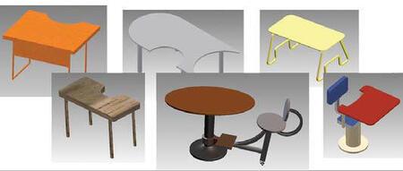 Проекты столов для учебной аудитории