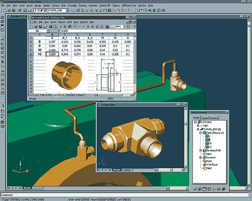 Autodesk Mechanical Desktop позволяет редактировать внешние детали непосредственно в сборочном чертеже и впоследствии записывать любые модификации обратно во внешний файл