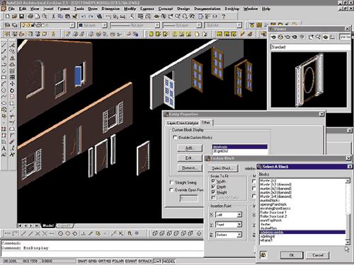 Рис.7 Еще одним способом создания окон и дверей является замена стандартных элементов пользовательскими блоками