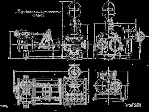 Завод «Борец» был основан в 1897 году... Чертеж парового насоса «Вортингтон» того времени