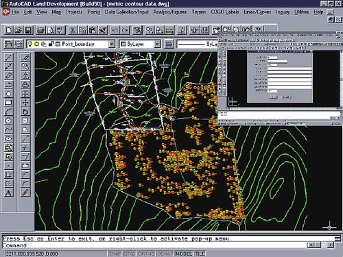 Ведь прежде чем принять решение, архитектор должен увидеть площадку для посадки здания в трехмерном виде и далее определиться с ландшафтным проектированием. Все это можно сделать в AutoCAD Land Development Desktop