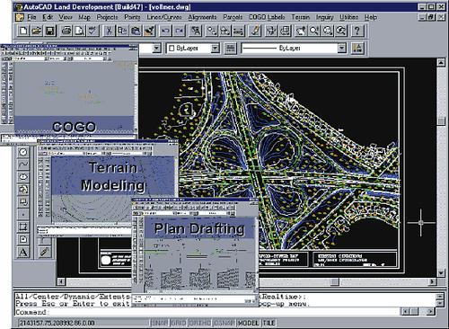 AutoCAD Land Development Desktop адресован геодезистам, градостроителям и землеустроителям