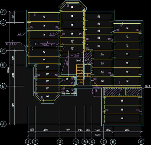 Рис.4. Модуль «Перекрытия» позволяет выполнять схемы расположения элементов перекрытий в полном объеме