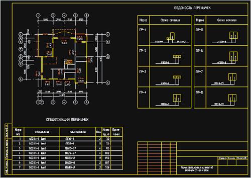 Рис.7. Модуль Перемычки позволяет раскладывать перемычки, используя автоматически получаемую информацию о проеме, толщине стены, уровне низа перемычек