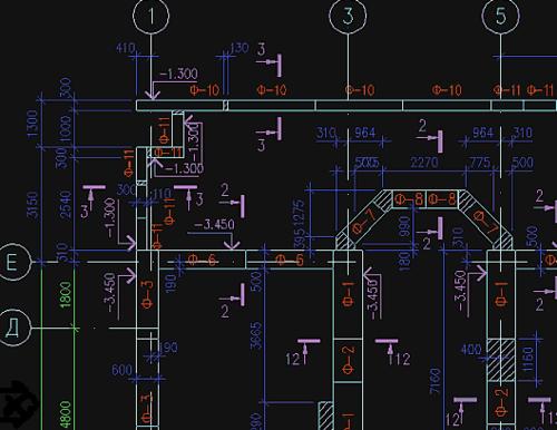 Рис.9. Модуль «Ленточные фундаменты» позволяет раскладывать плиты фундаментов автоматически и вручную