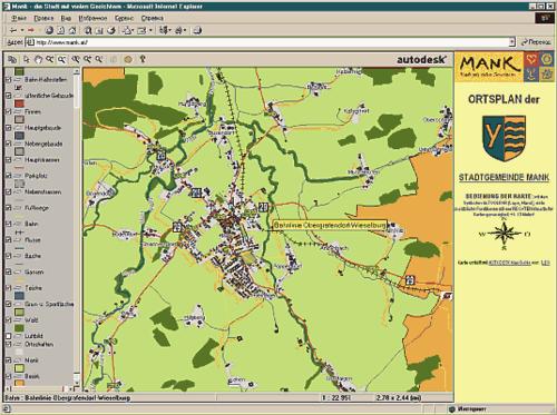 С помощью технологий MapGuide земли Австрии можно посмотреть на любом компьютере, подключенном к Интернет