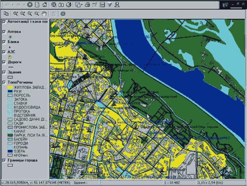 Карты некоторых городов России и Украины благодаря MapGuide уже доступны в Интернет
