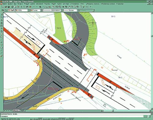 Нанесение разметки и расстановка дорожных знаков при помощи программы Plateia