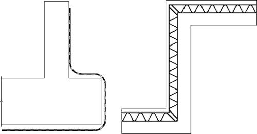 Рис.11. Изображение гидроизоляции и теплоизоляции