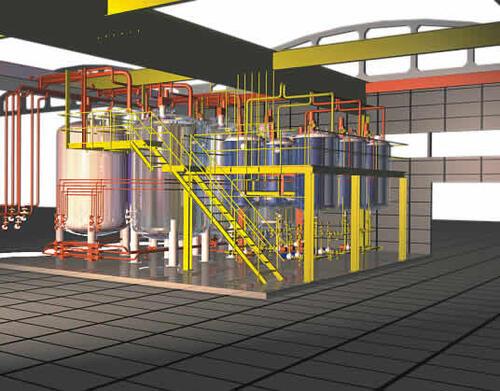 Рис. 10. Часть проекта, разработанного в PLANT-4D, поможет дать вам представление о возможностях этого пакета