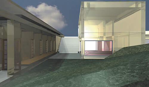 Специально выполненная визуализация экстерьера Koshino House с