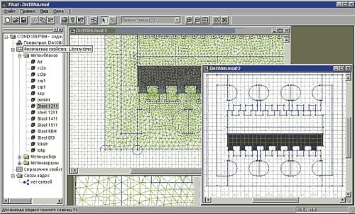 ELCUT имеет встроенный редактор геометрической модели, который оснащен небольшим, но тщательно отобранным набором инструментов