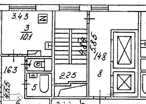 Рис. 2. Фрагмент растрового поэтажного планаОкно создания библиотек символов