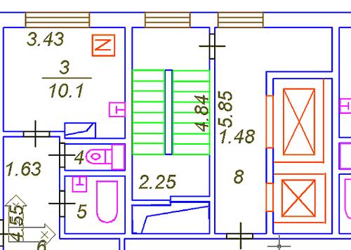 Рис. 4. Модель поэтажного плана