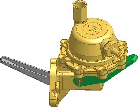 Рис. 3. Модель бензонасоса, спроектированного в кратчайшие сроки с помощью Autodesk Inventor и измененного по требованию заказчика