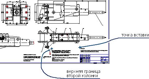 Результат размещения технических требований в три столбца