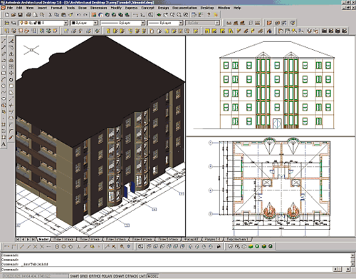 Рис. 10. Пример сборки многоэтажного здания