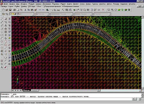 Использование цифровой модели местности в проекте