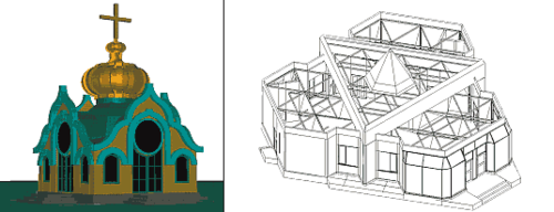 Рис. 3. Образцы моделей, созданных на основе базовых примитивов