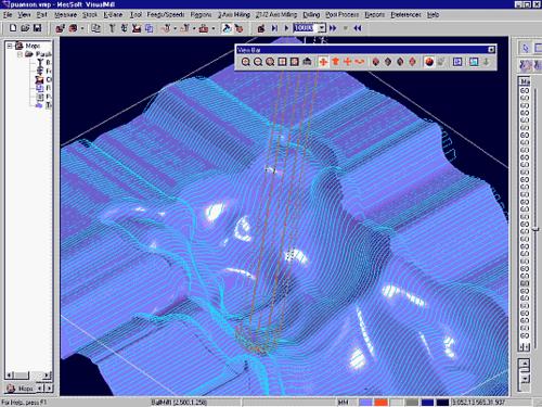 Получение управляющих программ «поручили» системе VisualMill v2.5 компании Mecsoft
