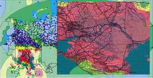 Рис. 3. Карта опасности лесных пожаров