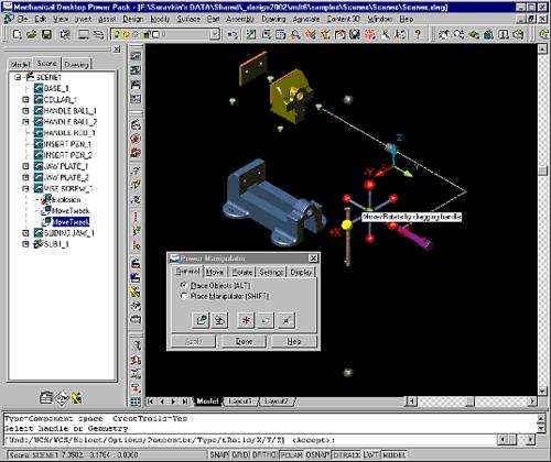 3D Manipulator - удобный инструмент для ориентации элементов модели в трехмерном пространстве и построения схем сборки-разборки