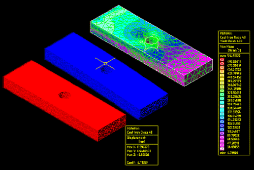 Встроенный проверочный конечно-элементный анализ MDT R6 позволяет рассчитать различные варианты поведения отдельных деталей под нагрузкой