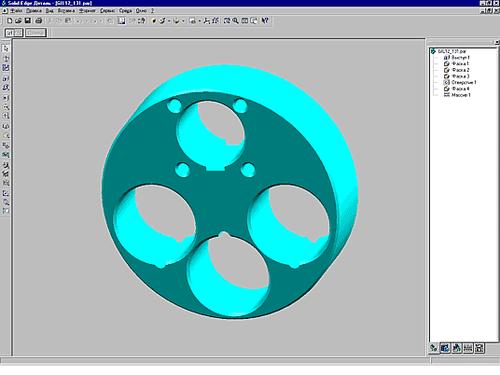 Рис. 1. Деталь спроектирована в системе Solid Edge