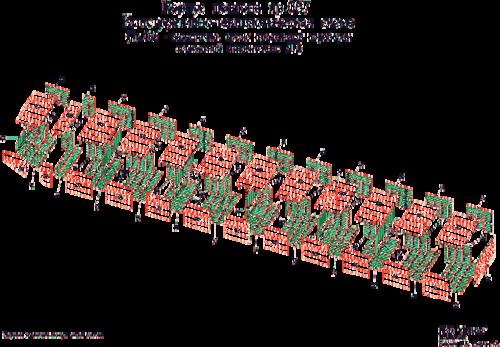 Риc. 4. Корпус понтона проекта 067. Конструктивно-технологическая схема