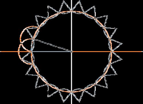 Рис. 2. Чертеж среза колонны
