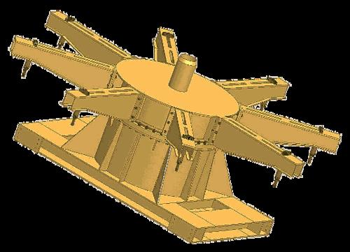Трехмерная модель опорно-поворотного устройства лебедки кабелеукладочного оборудовани