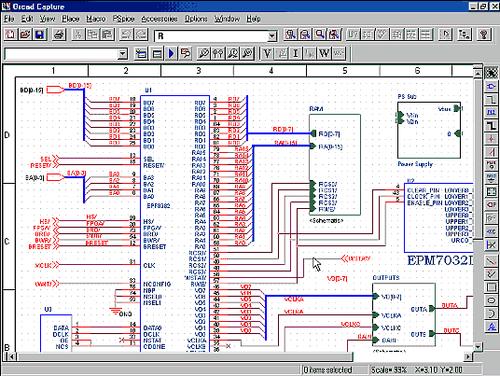 Описание схемы проектируемого устройства удобнее всего выполнять в OrCAD Capture