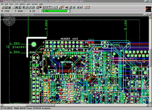 OrCAD Layout предназначен для построения топологии, размещения компонентов, трассировки проводников печатный плат...