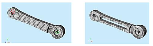 Конечно-элементное представление модели в программе Cosmos/DesignSTAR