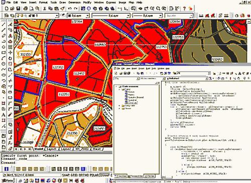 Рис. 2. Разработка схемы планировочной структуры. Фрагмент кода приложения