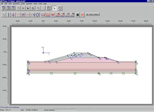 Рис. 4. Геометрическая модель плотины