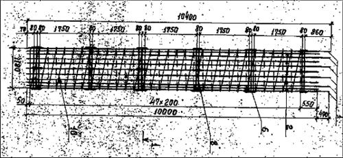 Фрагмент исходного растрового чертежа