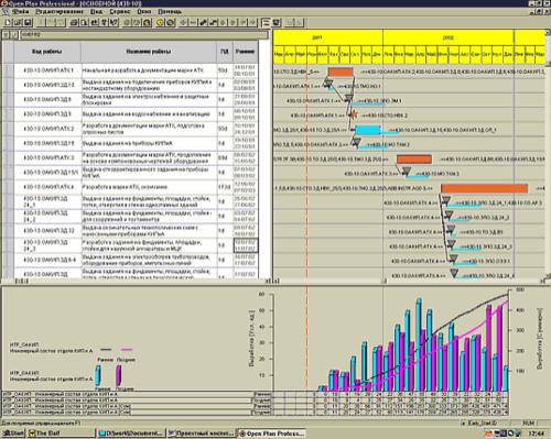 Рис. 1. Общий вид рабочего окна программного обеспечения Open Plan
