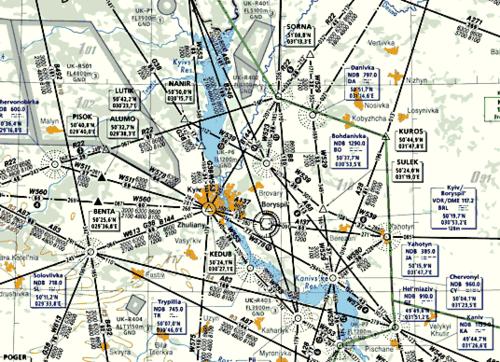 Рис. 1. Тематические карты обслуживания воздушного движения в Украине