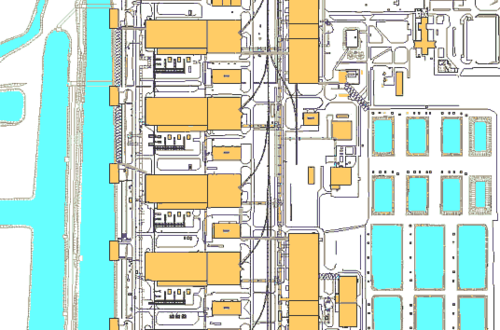 Рис. 6. Инженерные коммуникации станции (материал представляется в формате DWF)