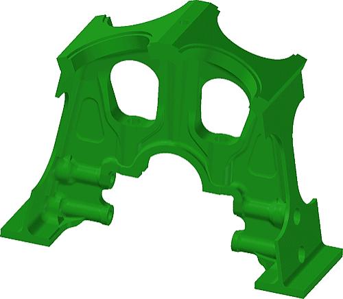 Рис. 1. Модель детали «Стойка средняя»